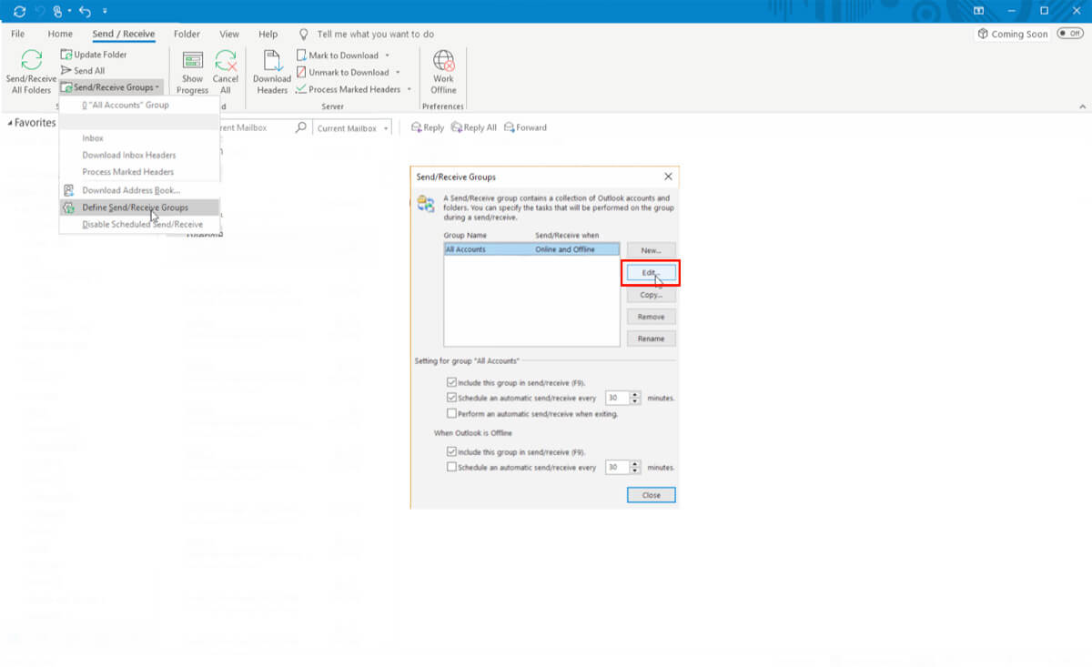 Outlook Slow Sync Step 4